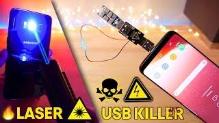 USB Killer 3.0 & Burning Laser vs Samsung Galaxy S8! Instant Death?