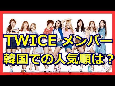 TWICEメンバーの人気順 韓国版