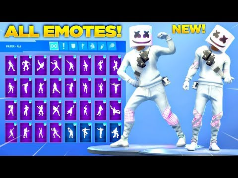 *NEW* MARSHMELLO SKIN SHOWCASE WITH ALL FORTNITE DANCES & NEW EMOTES! (Fortnite Season 7 Skin)
