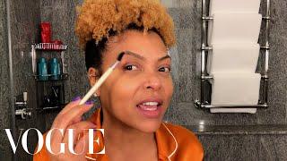 Taraji P. Henson's Guide to Defined Curls & Post-Flight Skin Care | Beauty Secrets | Vogue | Vogue
