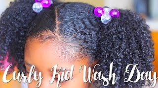 Curly Kid Wash Day Feat. So Cozy | Natural Hair