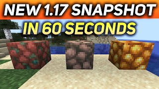 New Minecraft 1.17 Snapshot In 60 Seconds! (NEW CAVES REMOVED)