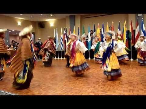 GRUPO DE DANZA ECUATORIANA  @ BAILE CDH NY 6-9-2012