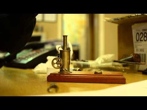 Vintage Brass Vertical Steam Engine