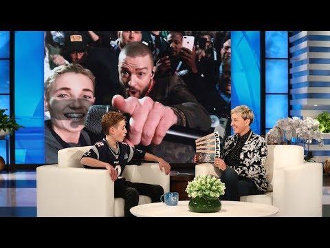 Justin Timberlake Surprises Super Bowl Selfie Kid Ryan McKenna