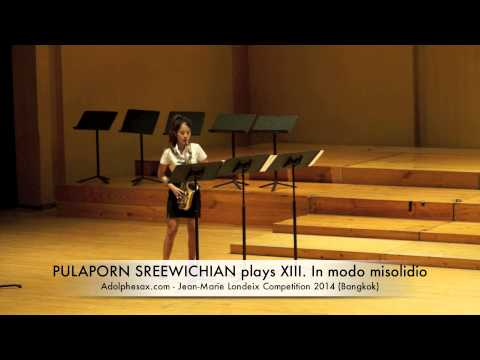 PULAPORN SREEWICHIAN plays XIII In modo misolidio