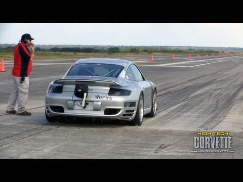 200+mph Porsches - the Texas Mile - October 2010