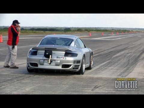200+mph Porsches - the Texas Mile - October 2010