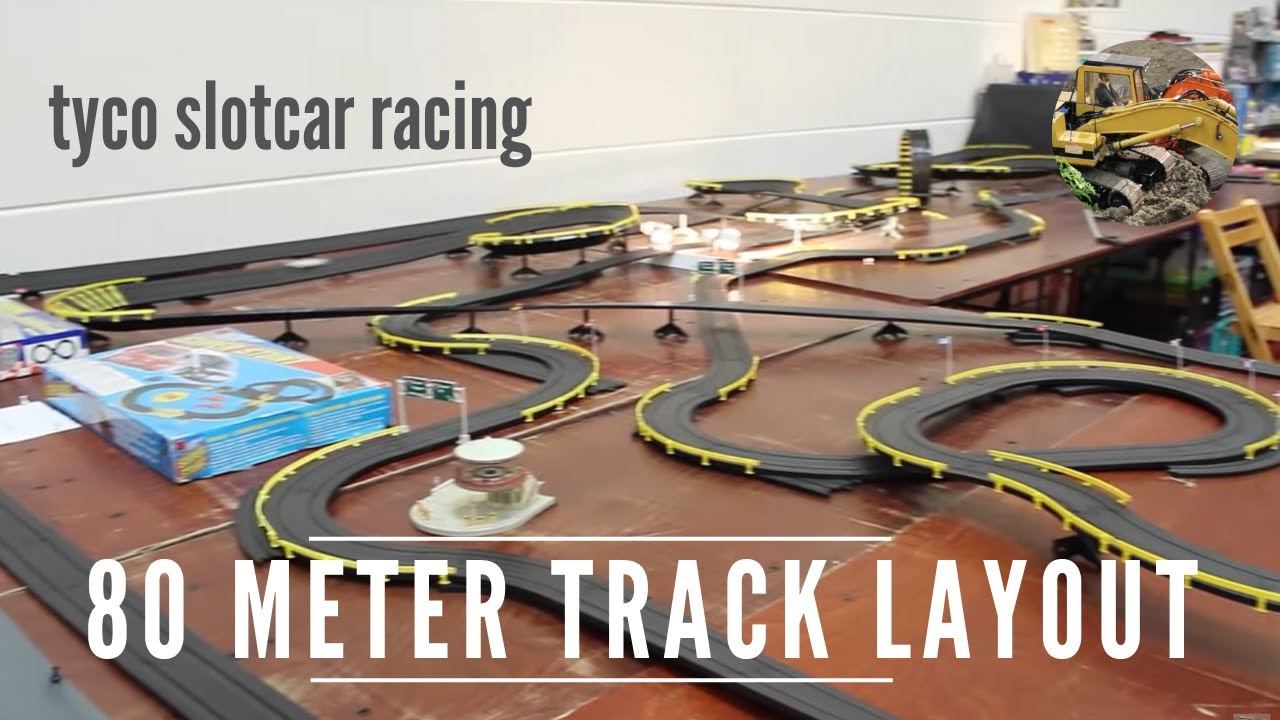 Tyco Slot Cars: 80 Meter Track Layout