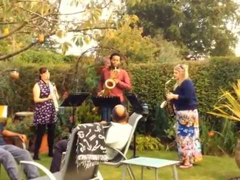 The Lone Arranger Goes Sax Mad in the Garden - sax trio