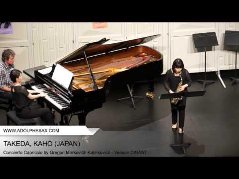 Dinant 2014 TAKEDA Kaho (Concierto Capriccio by Gregori Markovich Kalinkovich Version DINANT )