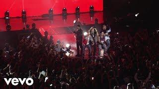 "J Balvin - Ginza ft. Nicky Jam, Felix Ortiz ""Zion"", Farruko, Yandel (Live at BRUUTTAL)"