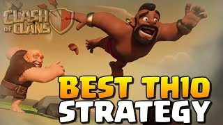 2 of the BEST TH10 Attacks for 2019 | Clash of Clans - Hog Rider TH10 Attack Strategy Tips!