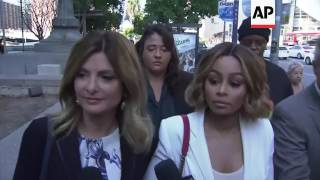 Blac Chyna arrives at court with attorney Lisa Bloom to request restraining order against Rob Kardas