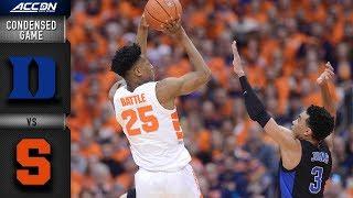 Duke vs. Syracuse Condensed Game   2018-19 ACC Basketball