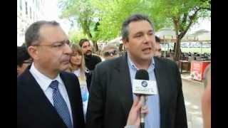 Δηλώσεις Πάνου Καμμένου στην Κέρκυρα 19-4-2012