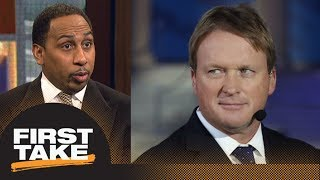 Stephen A. Smith has problem with Jon Gruden having ownership in Raiders | First Take | ESPN