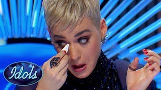 Karaoke Girl's Audition Has Katy Perry Reaching For The Tissues On American Idol!