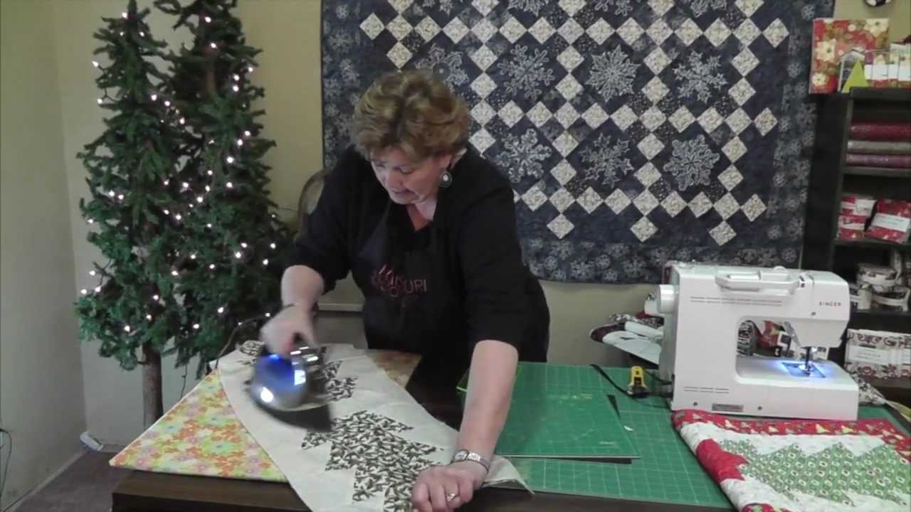 Make A Christmas Table Runner Using The Half Hex Ruler