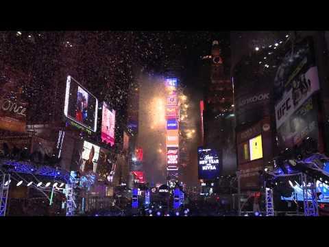 2014年の幕開けを刻んだ東芝ビジョン  NYタイムズスクエア年末カウントダウン  イベントレポート