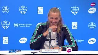 'I'm hungry!' - Watch Kvitova's hilarious press conference | Western & Southern Open Quarterfinals