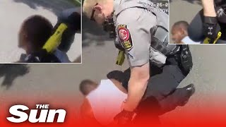 White cop arrested after body cam catches him repeatedly k..