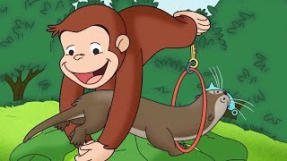 Curious George 🐵 We Otter Be Friends 🐵Compilation🐵 HD 🐵 Cartoons For Children