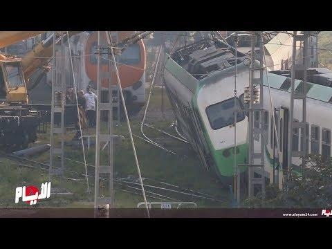 عاجل قطار يخرج عن سكته قرب محطة الميناء بالدار البيضاء