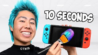 I Customized Nintendo Switch In 10 Hours, 1 Hour, 10 Minutes, 1 Minute & 10 Seconds!