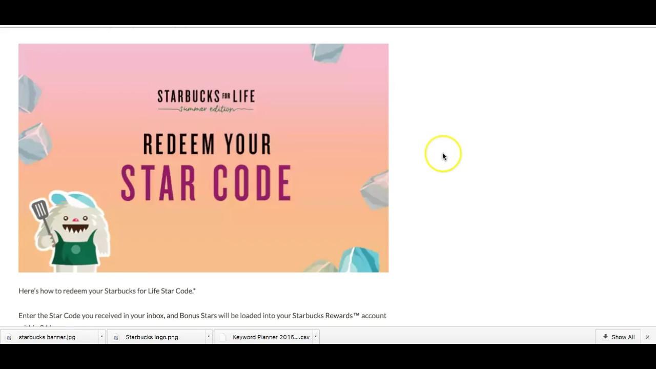 Can T Enter Starbucks Star Code