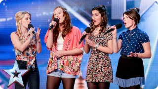 Disney singers Misstasia want EVERYONE to be happy, like ALL the time!   Britain's Got Talent 2015