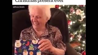 Grandma receives the best Christmas gift ever!