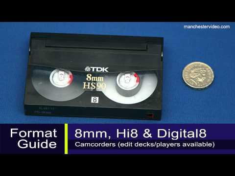 How to identify 8mm, Hi8, Digital 8, VHS, VHS-C, MiniDV and Betamax tapes