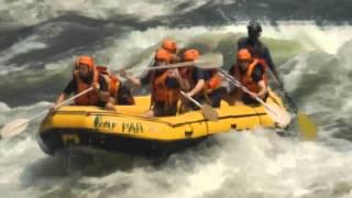Rafting dans les chutes victoria
