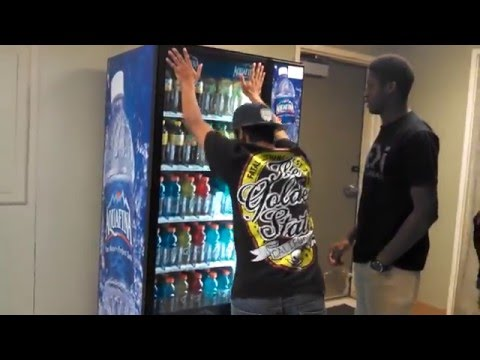 how to get a free soda from vending machine