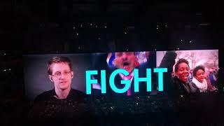 U2 opening - Chaplin speech of the great dictator- Madrid 21-09-2018 #U2ieTour
