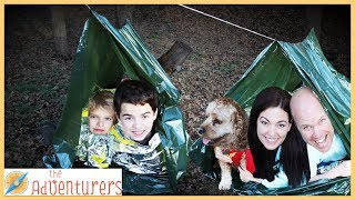24 Hour Outside Survival Challenge With Temptations / That YouTub3 Family