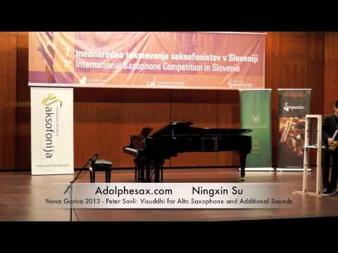 Ningxin Su - Nova Gorica 2013 - Peter Savli: Visuddhi for Alto Saxophone and Additional Sounds