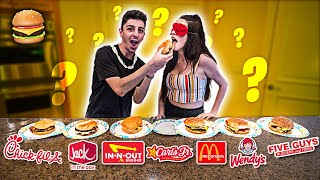 GUESS THAT FAST FOOD BURGER! **Blindfold Taste Test**