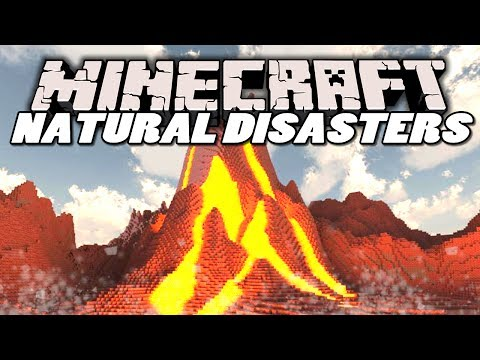 Minecraft Mods | NATURAL DISASTERS MOD! (Earthquakes, Meteors & Volcanoes) | Mod Showcase