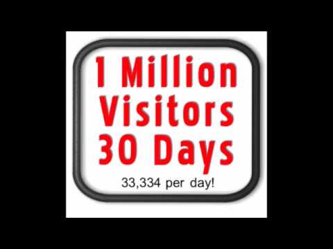 How To Get 1 Million Website Hits, Clicks or Visitors - Bulk webpage Traffic!