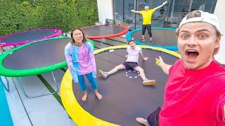 LAST TO LEAVE TRAMPOLINES WINS $10,000