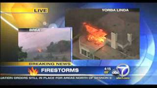 Socal Wildfire coverage from KABC7 on 11/15/2008