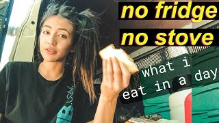 Van Life: What I Eat in A Day - NO FRIDGE NO STOVE | Hobo Ahle