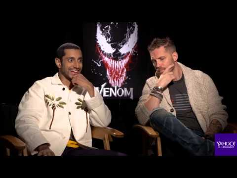 'Venom' stars Tom Hardy and Riz Ahmed geek out over Eminem