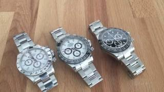 Stainless Steel Rolex Daytona - a comparison