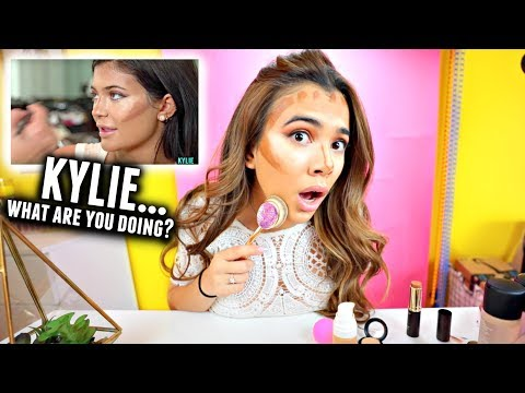 I tried following a Kylie Jenner Makeup Tutorial... Realizing things😂...