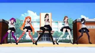 【MMD】 On The Floor【Osana Ayano Kokona Amai Oka】