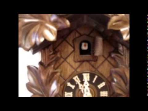 "Hones Cuckoo Clock - Carved | Leaf | 16"" H 