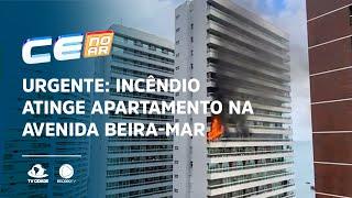 Urgente: Incêndio atinge apartamento na avenida Beira-Mar